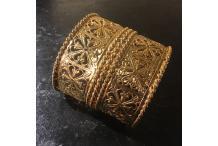 Gold-tone Cuff Bracelet Handmade High Lace