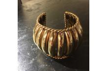 Gold-tone Cuff Bracelet Handmade High Bamboo