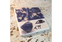 Carré en Marbre Inspiration Lapis Lazuli
