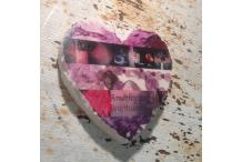 Marble Heart Inspiration Amethyst